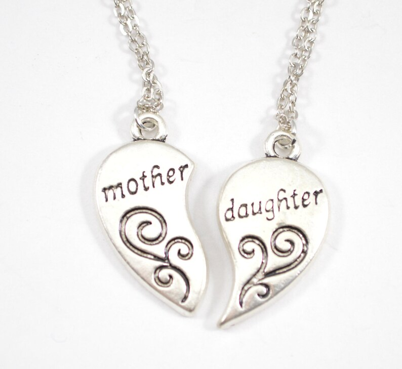Mother Daughter Broken Heart Necklace  b-31 image 0