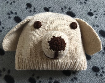 Puppy hat, Dog hat, baby hat, kids hat