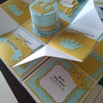 Baby blue Prince Invitation box