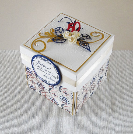 Happy Anniversary Card Exploding Box Gift For Mom 50th