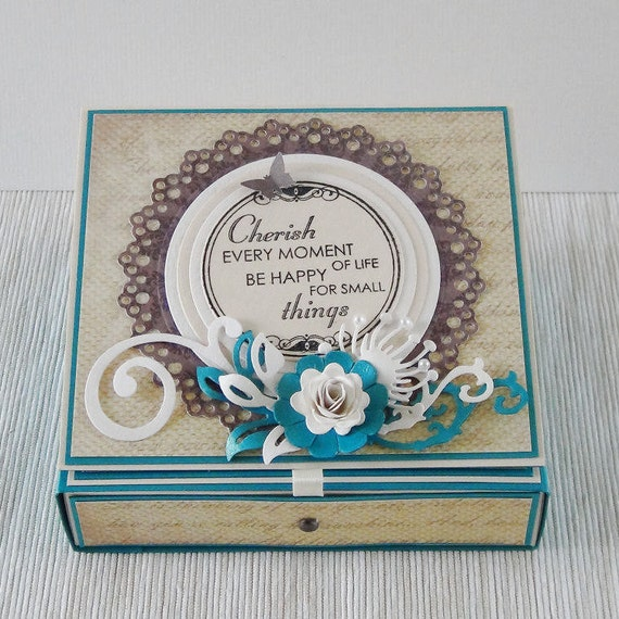 Birthday Gift Card Holder Greeting Turquoise