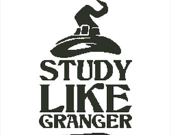 Buy 2 Get 1 Free-Harry Potter cross stitch pattern-Hermione Granger-Ron Weasley-Book-PDF pattern-Hogwarts-Magic-easy-beginner-Download-P-150