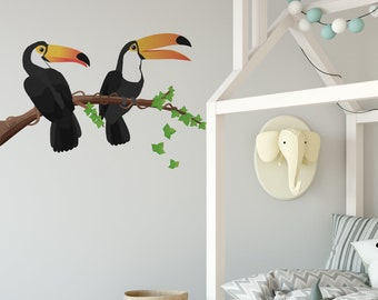 Toucan Wall Stickers for Kids Jungle Theme Wall Mural sku:119-stick-17