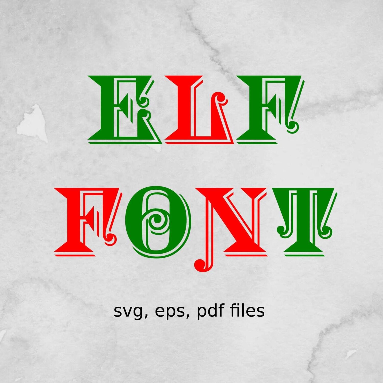 Elf Schriften SVG Dateien Brief Svg Weihnachten Schriftart | Etsy