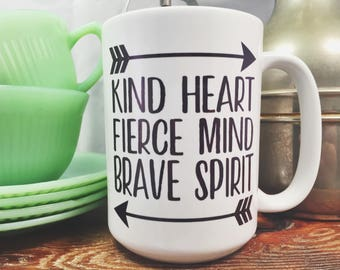 Mug | Coffee Mug | Kind Heart | Friend Gift | Mom Gift | Dishwasher Safe | Gift | Inspirational Gift | Inspirational Gift | Boho | Arrows |