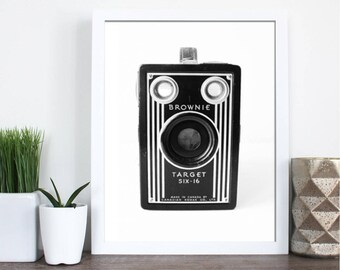 Brownie Camera Print | Vintage Camera Art | Brownie Camera | Camera Art | Vintage Style | Modern Decor | Old Camera | Camera Wall Decor