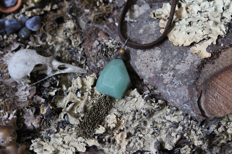 Aventurine and Tiger/'s Eye Chain Necklace