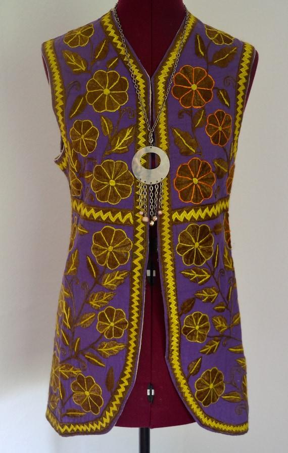 Vintage 1960s psychedelic hippie waistcoat
