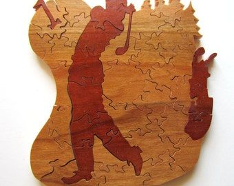 Wooden Golf Puzzle, Golf Gift