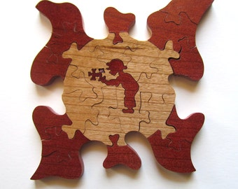 Autism Awareness, Support Autism, Wooden Autism Awareness Puzzles, Novelty Puzzle, Homemade Puzzle, Wood Puzzle, Puzzle Piece Art
