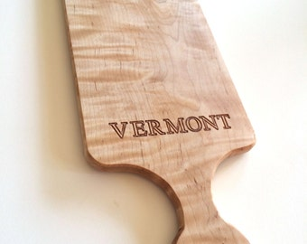 Customizable Cutting Boards, Curly Maple Wood, Add Your Own Text in Personalization Box