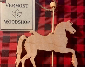 Carousel Horse Ornament, Vermont Curly Maple Wood Ornament
