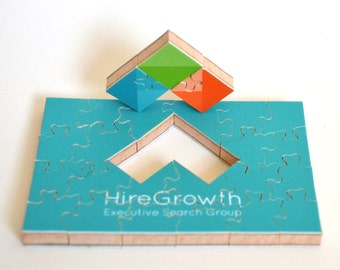 Customized Business Card Puzzle, Gifts for Your Boss, Corporate Gifts, Business Gifts, Teacher Gifts, Small Puzzle, Wood Puzzle