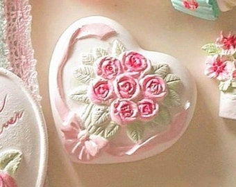 silicone mold cameo angels and heart of roses for Fimo wepam resin