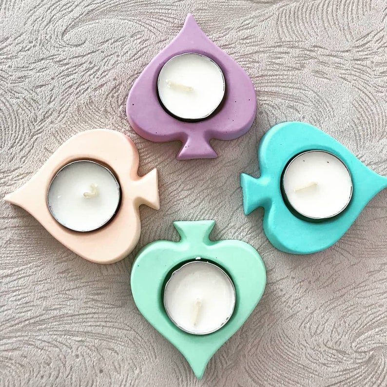 Mold Silicone Pique playing candle holder Candle Tealight Vintage Polymer Paste Fimo Plaster Soap Clay Resin Resin Polyester K508
