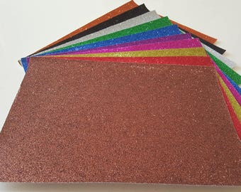 1 sheet glittery MAROON coloured Creative with sequin size 20x30cm for Scrapbooking crafts