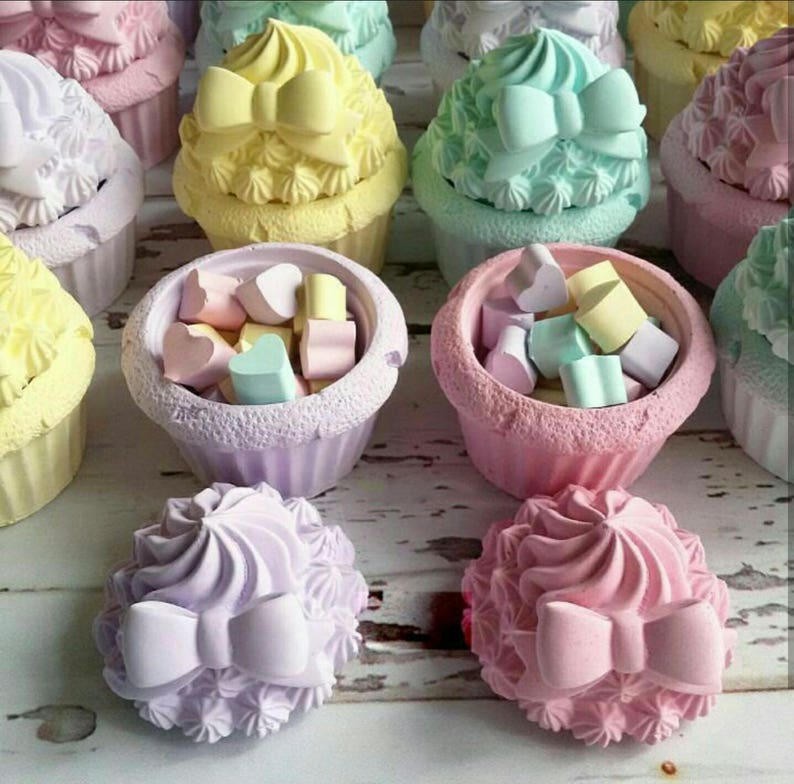 Mold Silicone box 9cm Cupcake 3D cake candle Sconce for polymer clay Fimo cast porcelain resin K349 clay SOAP