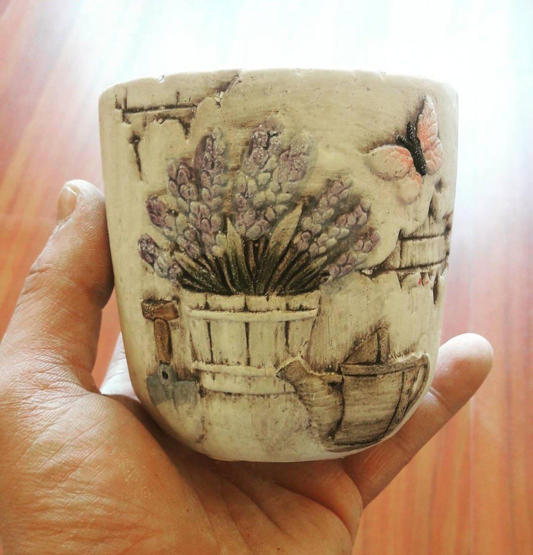 1 Moule en en en Silicone Pot Tasse Fleur Lavandes papillon pour Pâte Fimo Platre Porcelaine Cire savon résine 651ef6