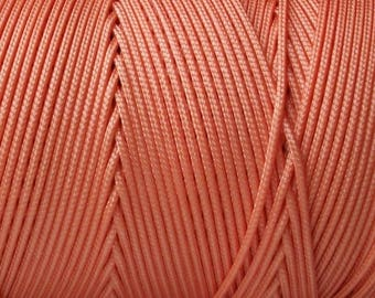 10 meter of 1 Orange braided nylon thread mm in diameter and shamballa creations