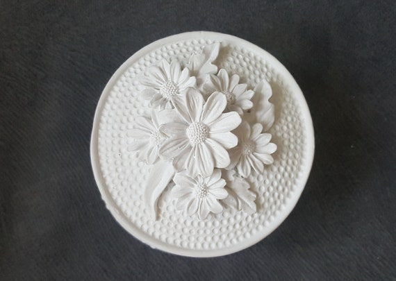 Silicone mold jewelry box beads accessories flowers Chamomile 14cm polymer clay Fimo plaster porcelain SOAP K282