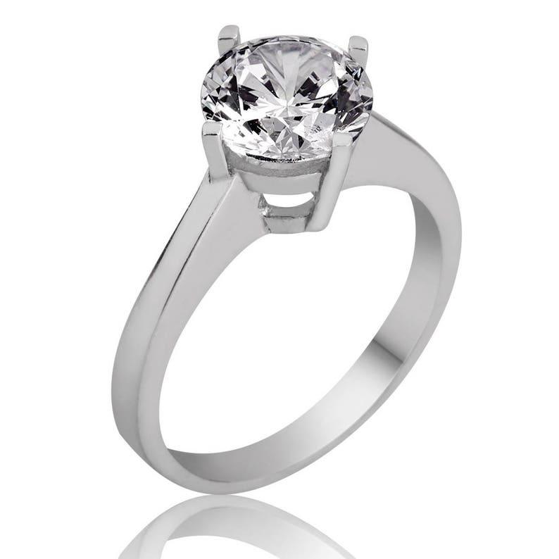 Ring wedding ring women 3.9 g Sterling Silver 925 set rhinestone Sterling Silver Women Ring