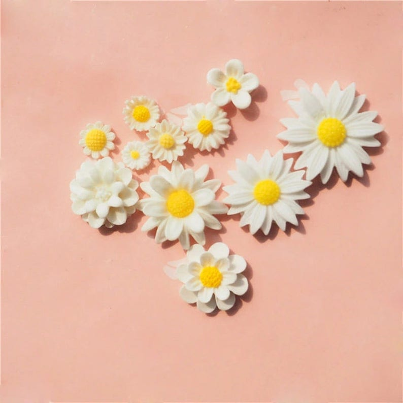 Mold Silicone 11 flowers different sizes for clay polymer Fimo plaster WEPAM wax candle SOAP resin clay Polyester K454 Cb