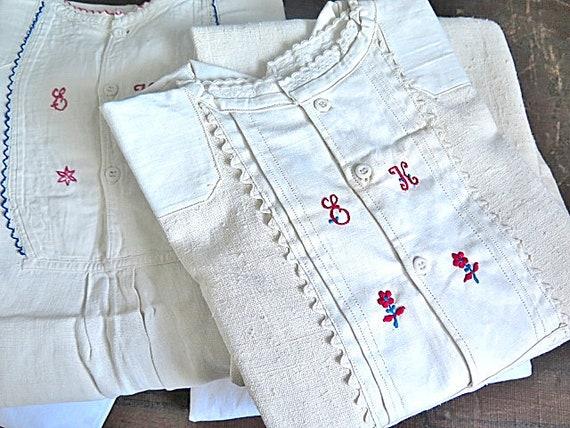 Linen Nightgowns from Transylvania - Rare linen tr