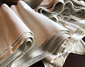 Linenbales - Handwoven Linen  1890 - Antique Peasant Linenbales - Organic Hemp Linen vor Sewing - Upholstery -