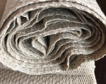 Bales of linen - Small bales of towel linen - Rustic woven linen for handicrafts - Peasant Linen