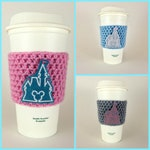 Cinderella Castle Coffee Cup Cozy / Crochet Coffee Sleeve / Reusable Cozie / Customizable