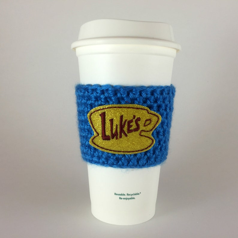 Gilmore Girls Luke's Diner Coffee Cup Cozy / Crochet image 0
