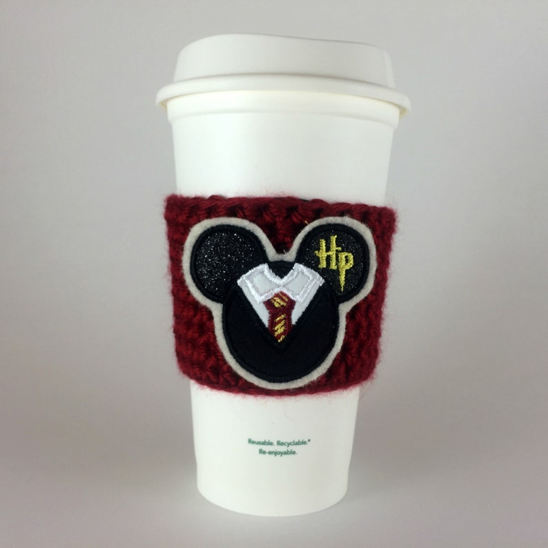 Wizard Boy Mickey Mouse Coffee Cup Cozy / Crochet Coffee image 0