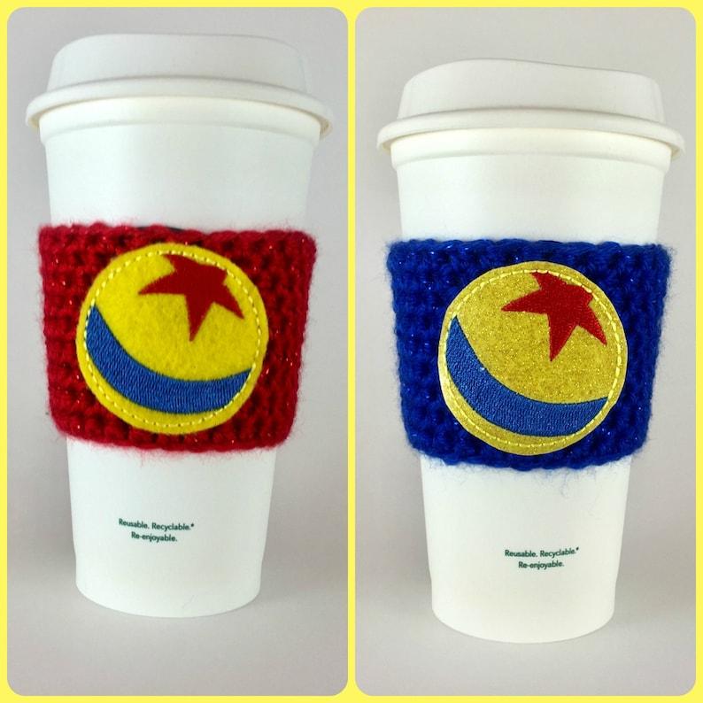 Toy Story Pixar Ball Coffee Cup Cozy / Crochet Coffee Sleeve / image 0