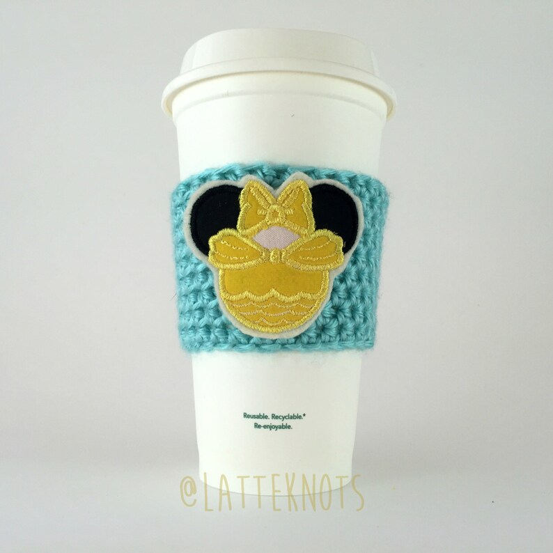 Princess Belle Coffee Cup Cozy / Crochet Coffee Sleeve / image 0