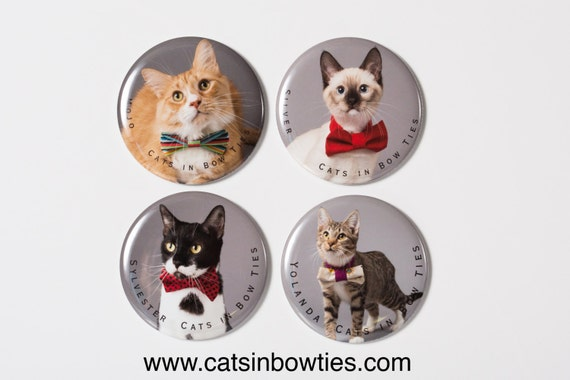 Cats in Bow Ties - 2.5in Limited Edition Magnet - 4 pack