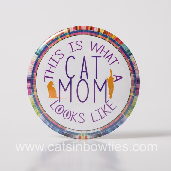 Cat Mom Pocket Mirror