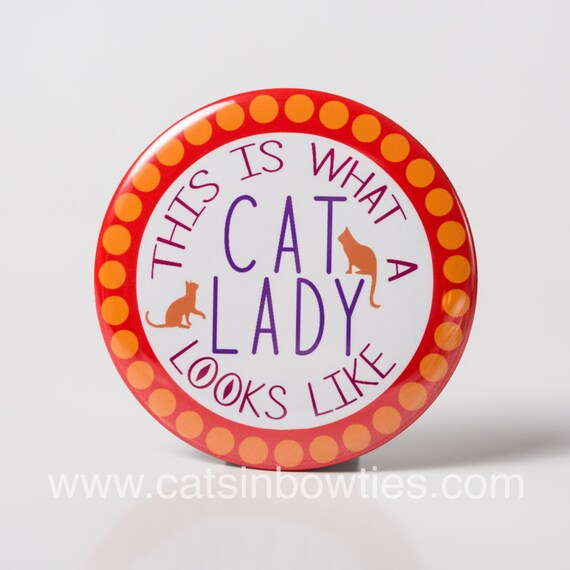 Cat Lady Pocket Mirror