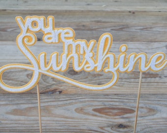CLEARANCE. You are my Sunshine Cake Topper.