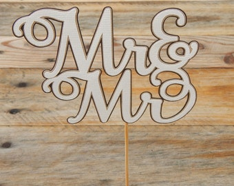 CLEARANCE. Mr & Mr Cake Topper.
