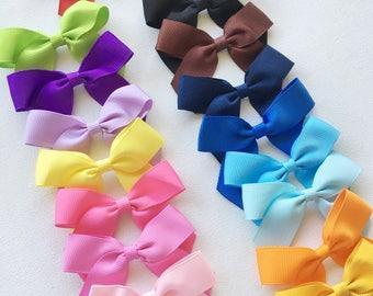 Baby Headbands, Baby Headband, Headbands, Toddler Headbands, Newborn Headbands, Grosgrain Ribbon Bows, Headbands for Babies, Ribbon Bows