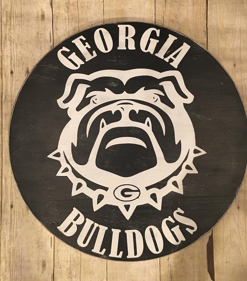 Georgia Bulldogs Wood Sign