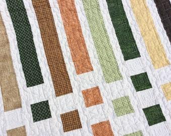 Modern Lap Quilt, Quilt for a Man, Handmade Throw, Homemade Blanket,  Masculine Quilt, Quilts for Sale, Christian Faith