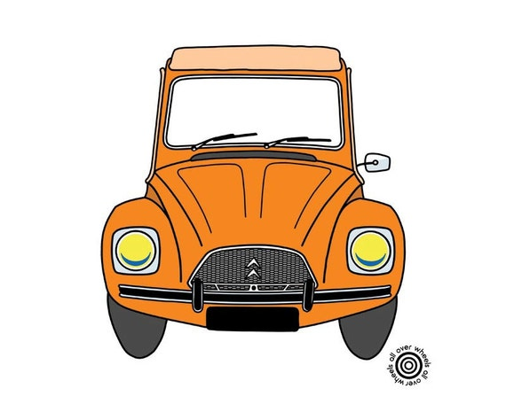 Personnalisé CITROEN 2CV classic car vintage épaule Sac Messenger Cadeau