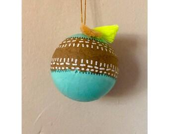 Teal Christmas Ornament