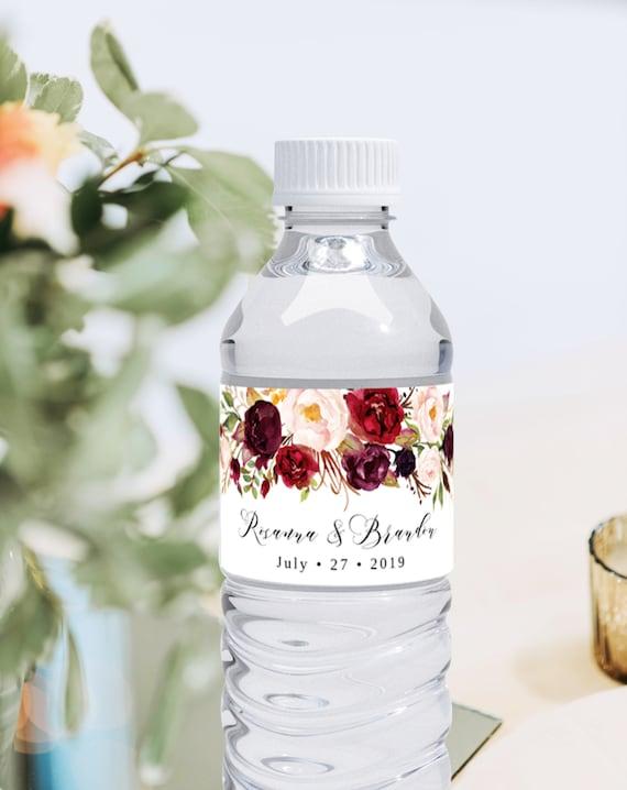 Templett Bridal Shower Favor Download C47 Printable Wedding Bottle Label Mountains Water Bottle Label Template Wilderness Wedding Favor