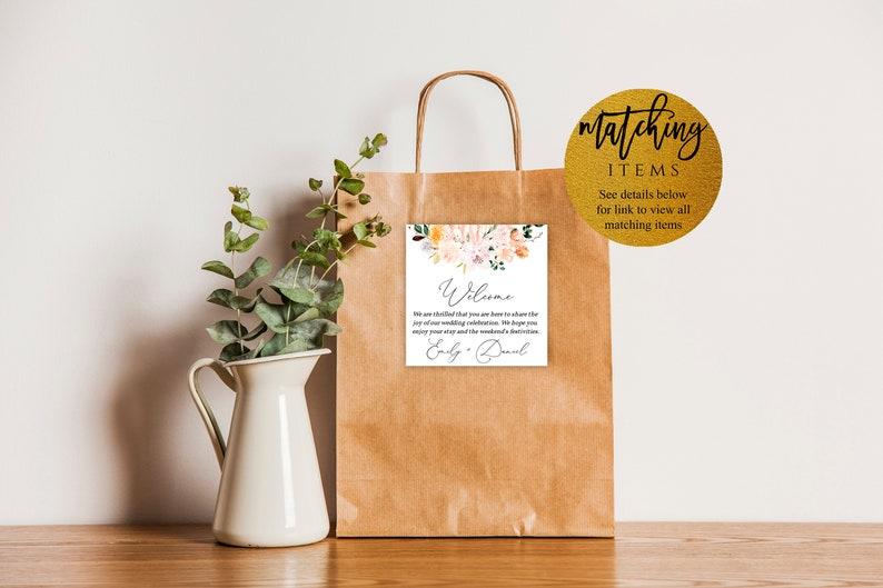 Editable Invite WR100 Wedding Invitation Suite Blush and Peach Flowers Wedding Invitation Template Floral Wedding Printable