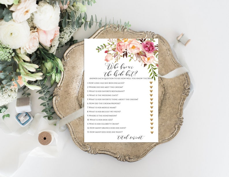 Who knows the Bride best game Bridal Shower Games Who knows image 0
