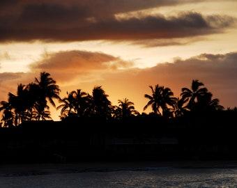 Kauai Photo // Kauai Photography // Kauai Pictures // Kauai Palm Trees // Hawaii Sunset Photo // Hawaii Palm Trees // Hawaii Photos // Kauai