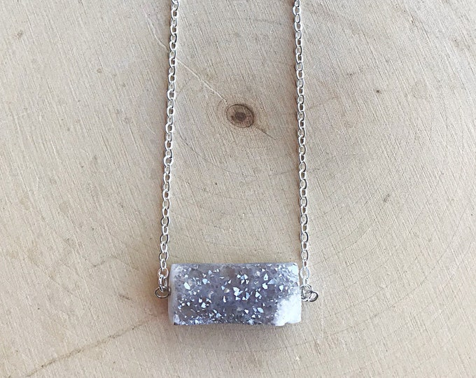 Druzy Crystal Agate Necklace