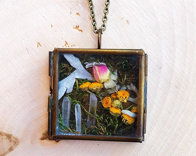 Crystal Garden Shadow Box Pendant